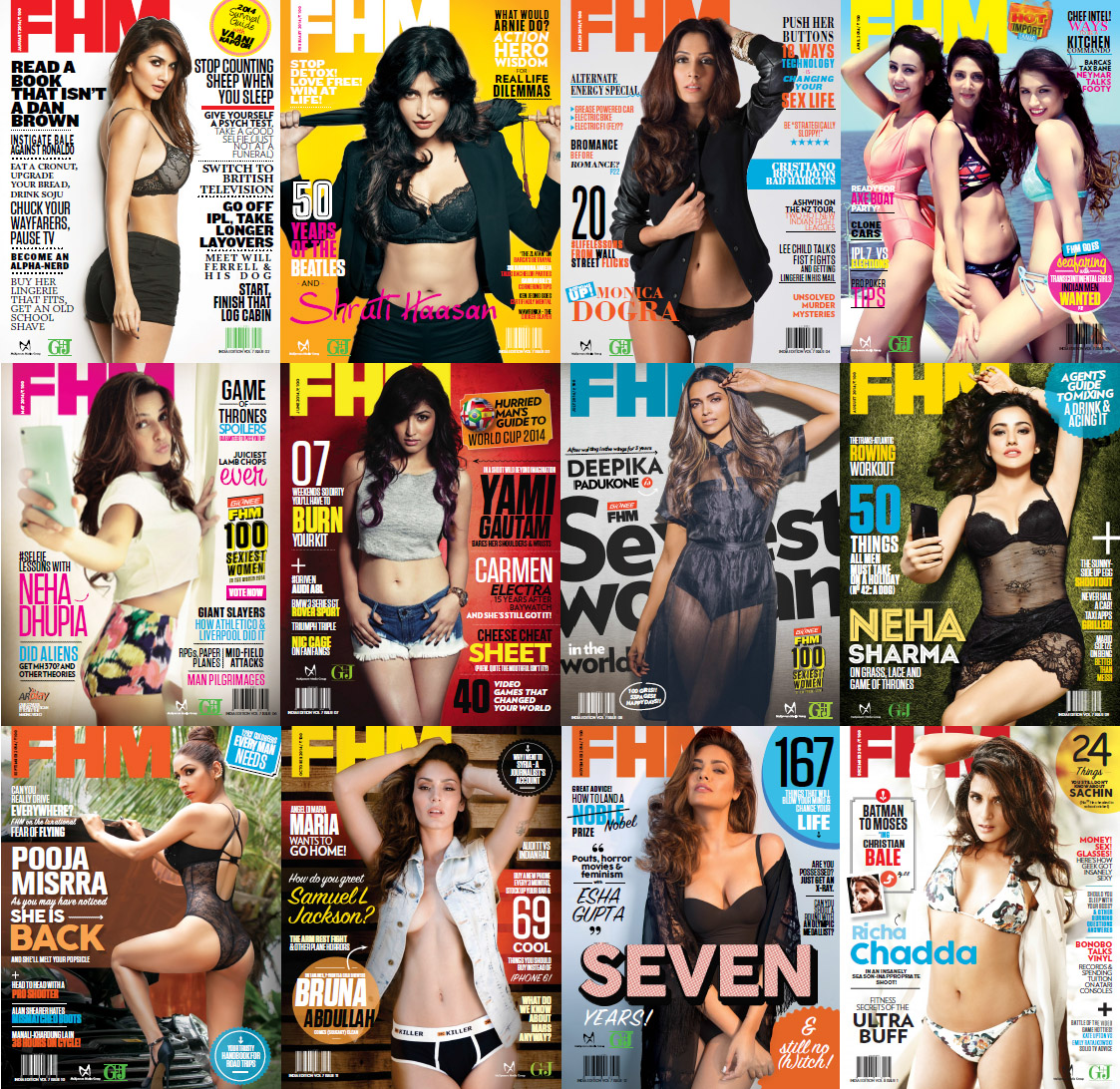 FHM India Magazine - 2014 Full Year Issues Collection free download