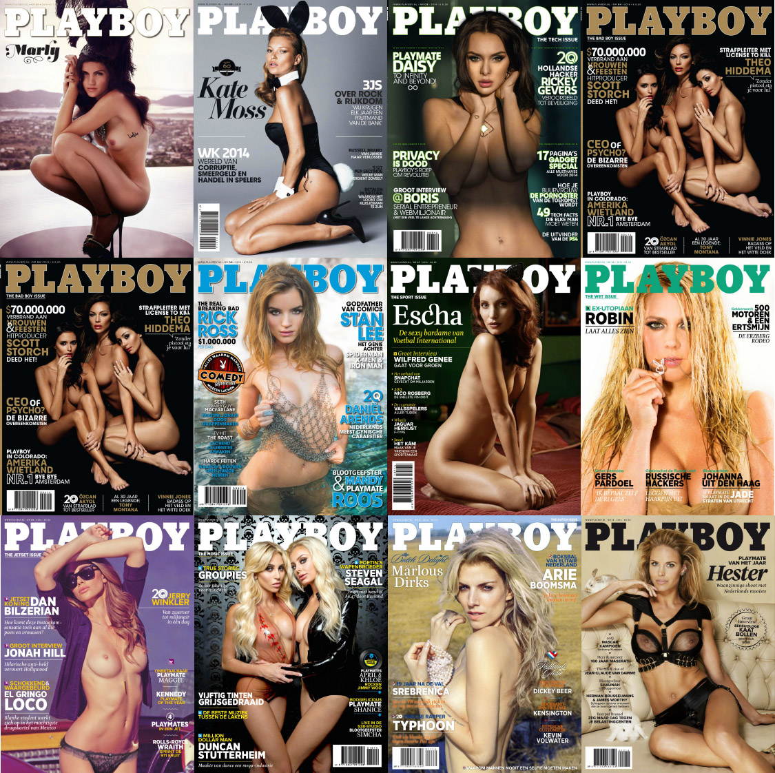 Playboy Nederland Magazine - 2014 Full Year Issues Collection free download