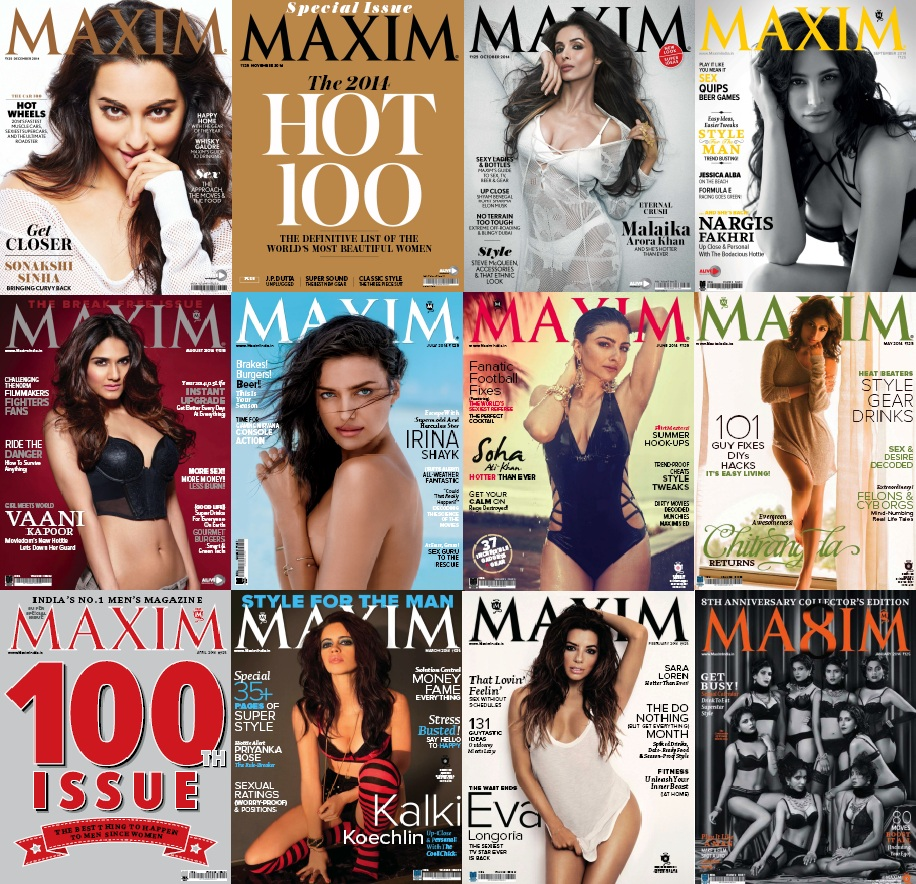 Maxim India - 2014 Full Year Issues Collection free download