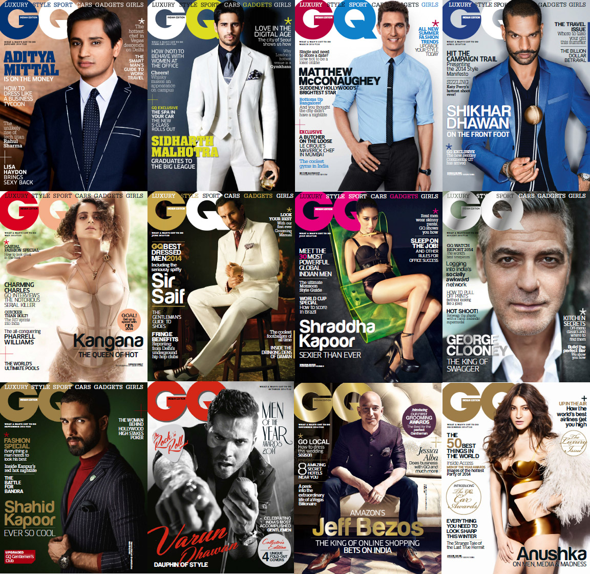 GQ India Magazine - 2014 Full Year Issues Collection free download