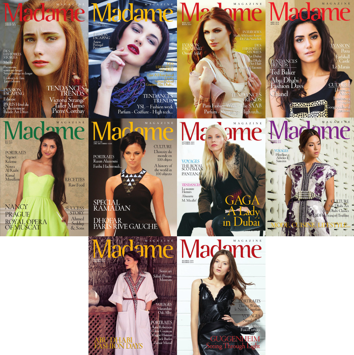 Madame Magazine 2014 Full Year Collection free download