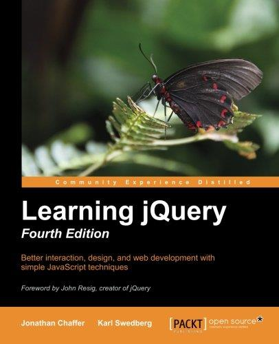 Learning jQuery 4th Edition free download