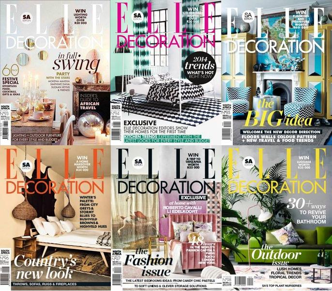 ELLE Decoration South Africa Magazine 2014 Full Collection free download