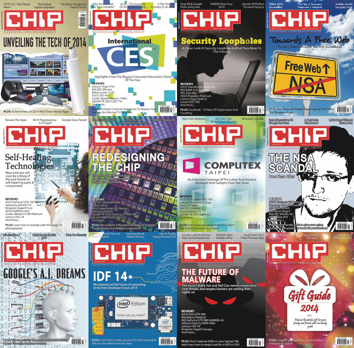 CHIP Malaysia Magazine - 2014 Full Year Issues Collection free download
