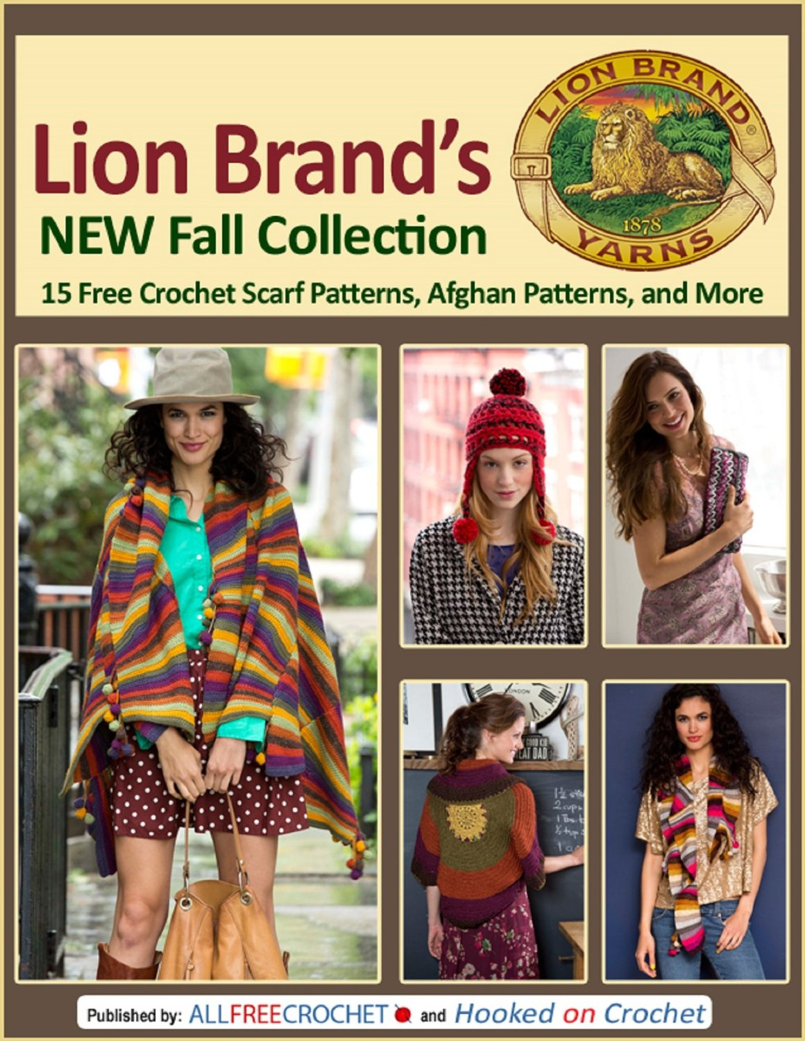 Lion Brand's New Fall Collection: 15 Free Crochet Scarf Patterns, Afghan Patterns, and More free download