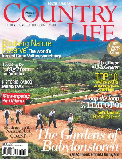 South African Country Life Magzine February 2015 free download