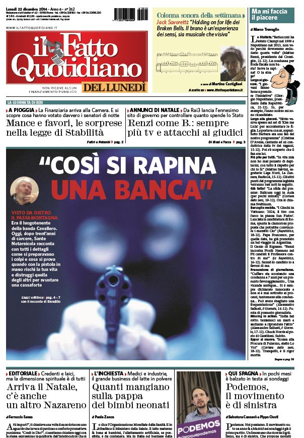 Il Fatto Quotidiano (22-12-14) download dree
