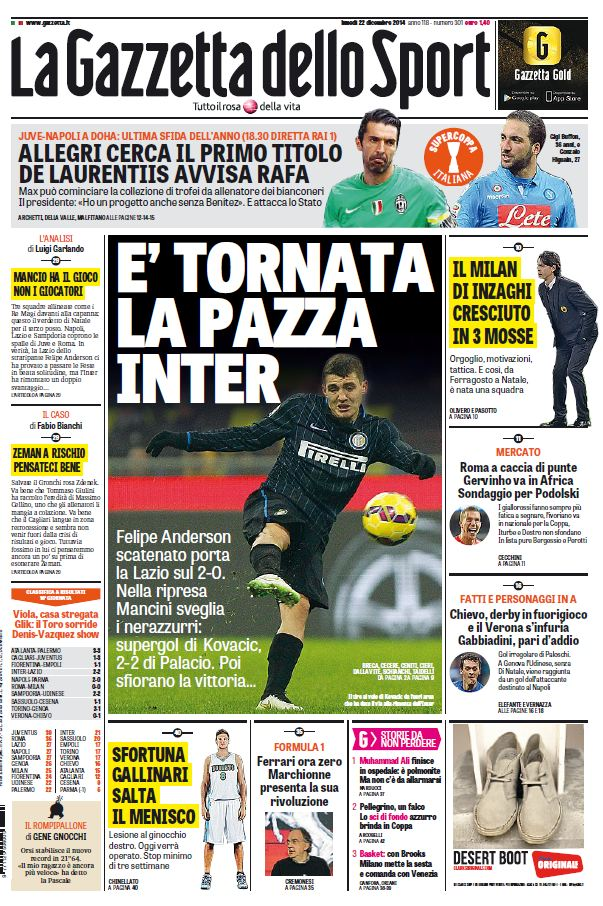 La Gazzetta dello Sport (22-12-14) free download