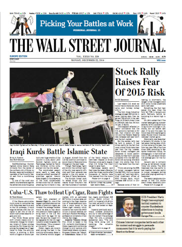 The Wall Street Journal (Europe) December 22 2214 free download