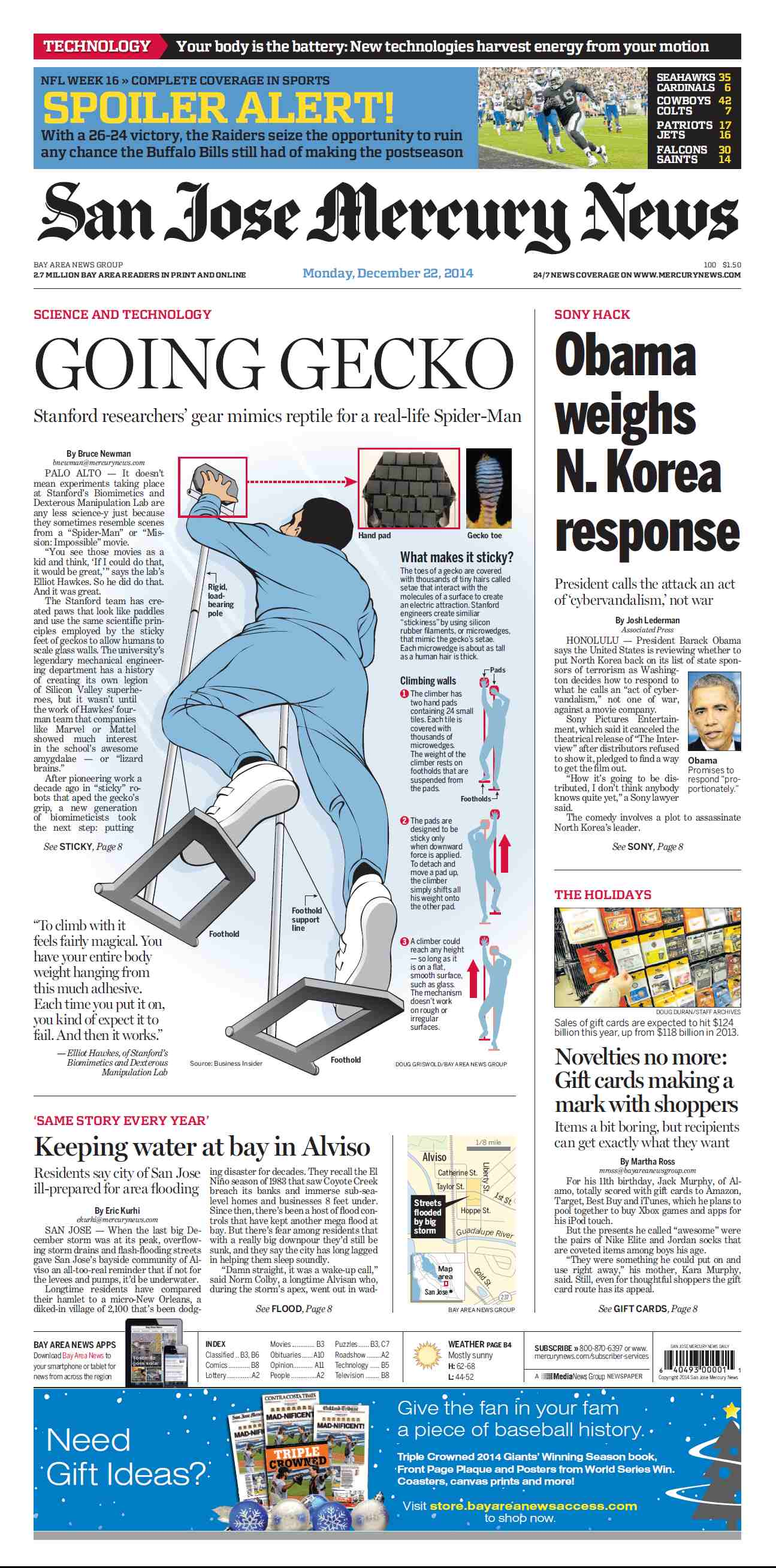 San Jose Mercury News - December 22, 2014 free download