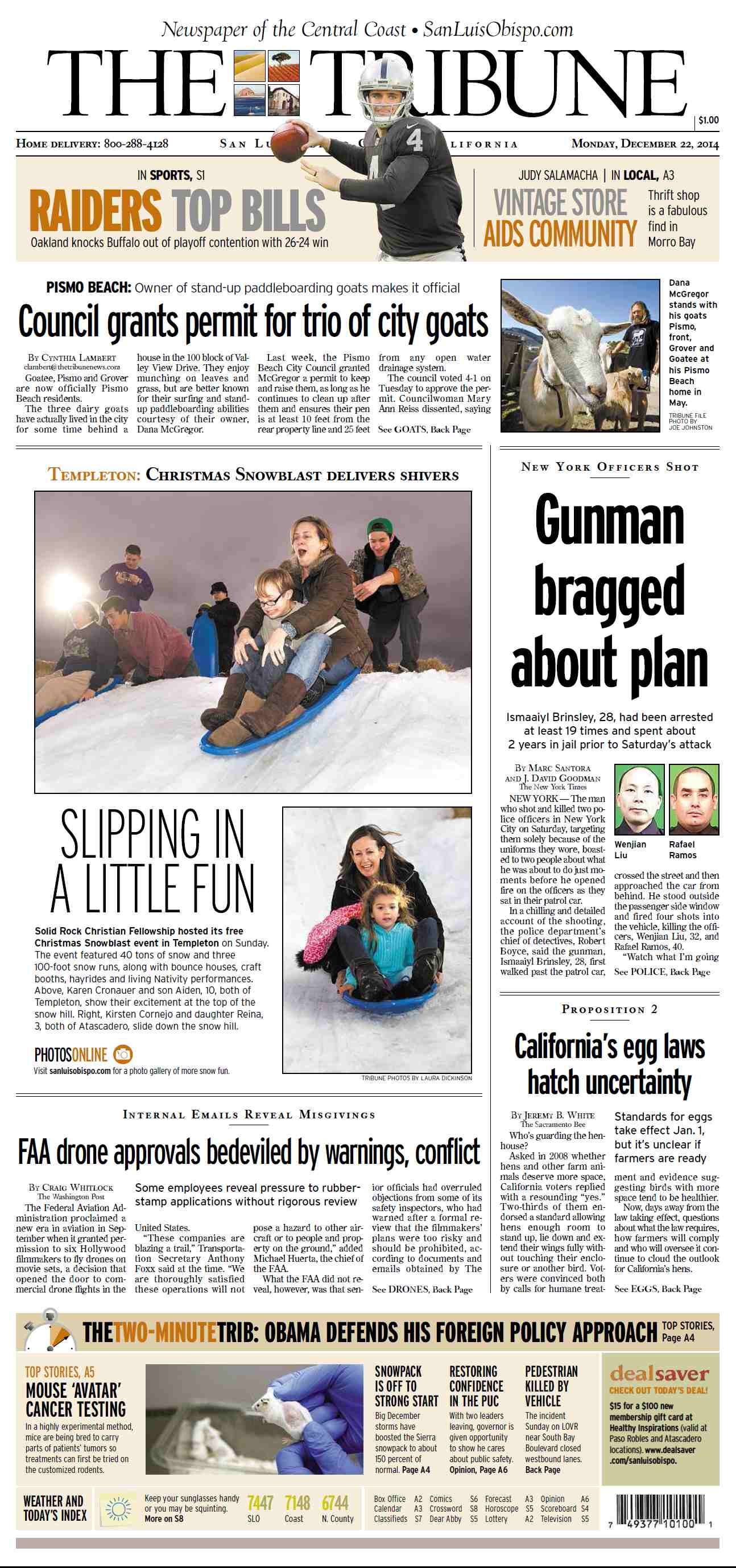 The Tribune  December 22, 2014 free download