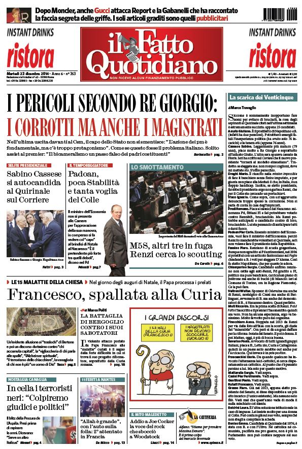 Il Fatto Quotidiano (23-12-14) free download
