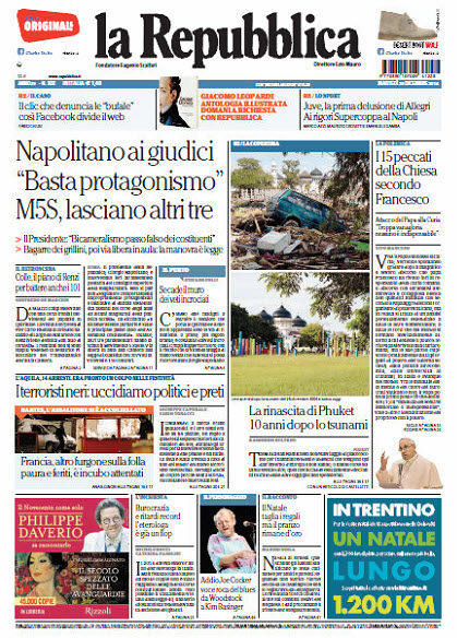 La Repubblica - 23.12.2014 free download
