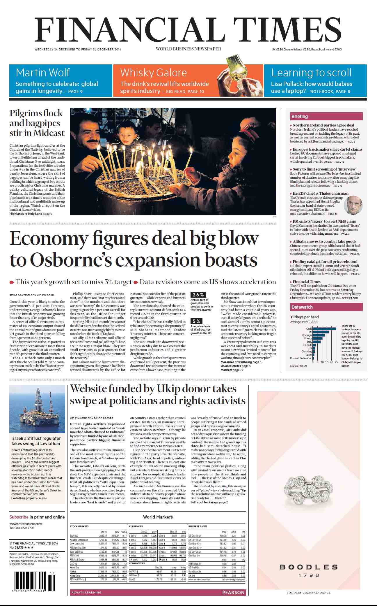 Financial Times  December 24, 2014 free download