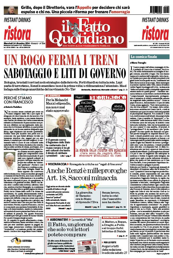 Il Fatto Quotidiano (24-12-14) free download