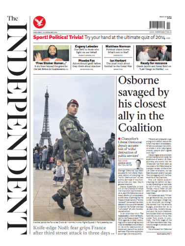 The Independent December 24 2414 free download