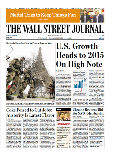 The Wall Street Journal (Europe) December 24 2414 free download