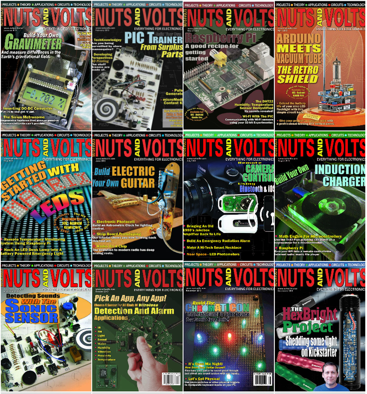 Nuts and Volts - Full Year 2013 Issues Collection free download