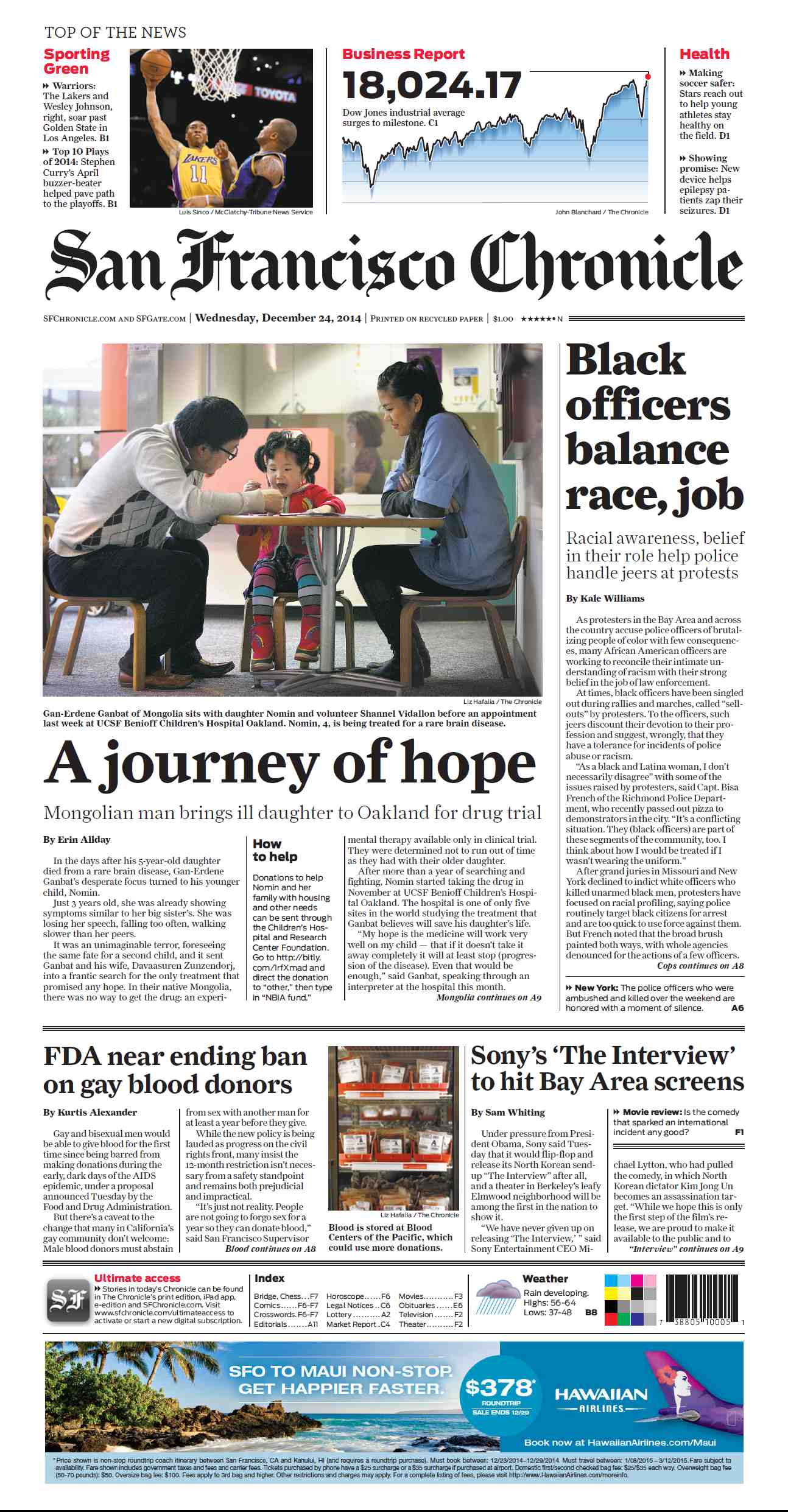 San Francisco Chronicle - December 24, 2014 free download