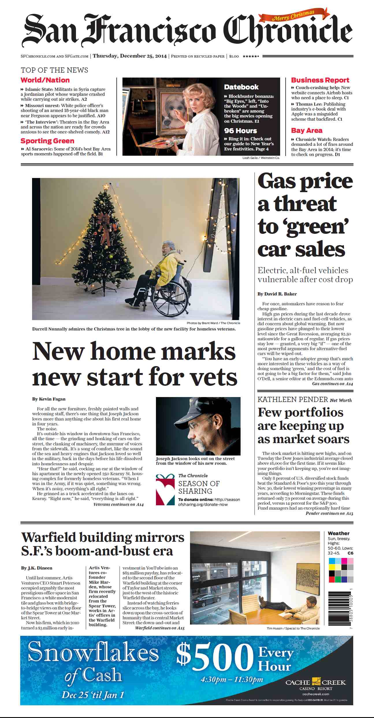 San Francisco Chronicle - December 25, 2014 free download