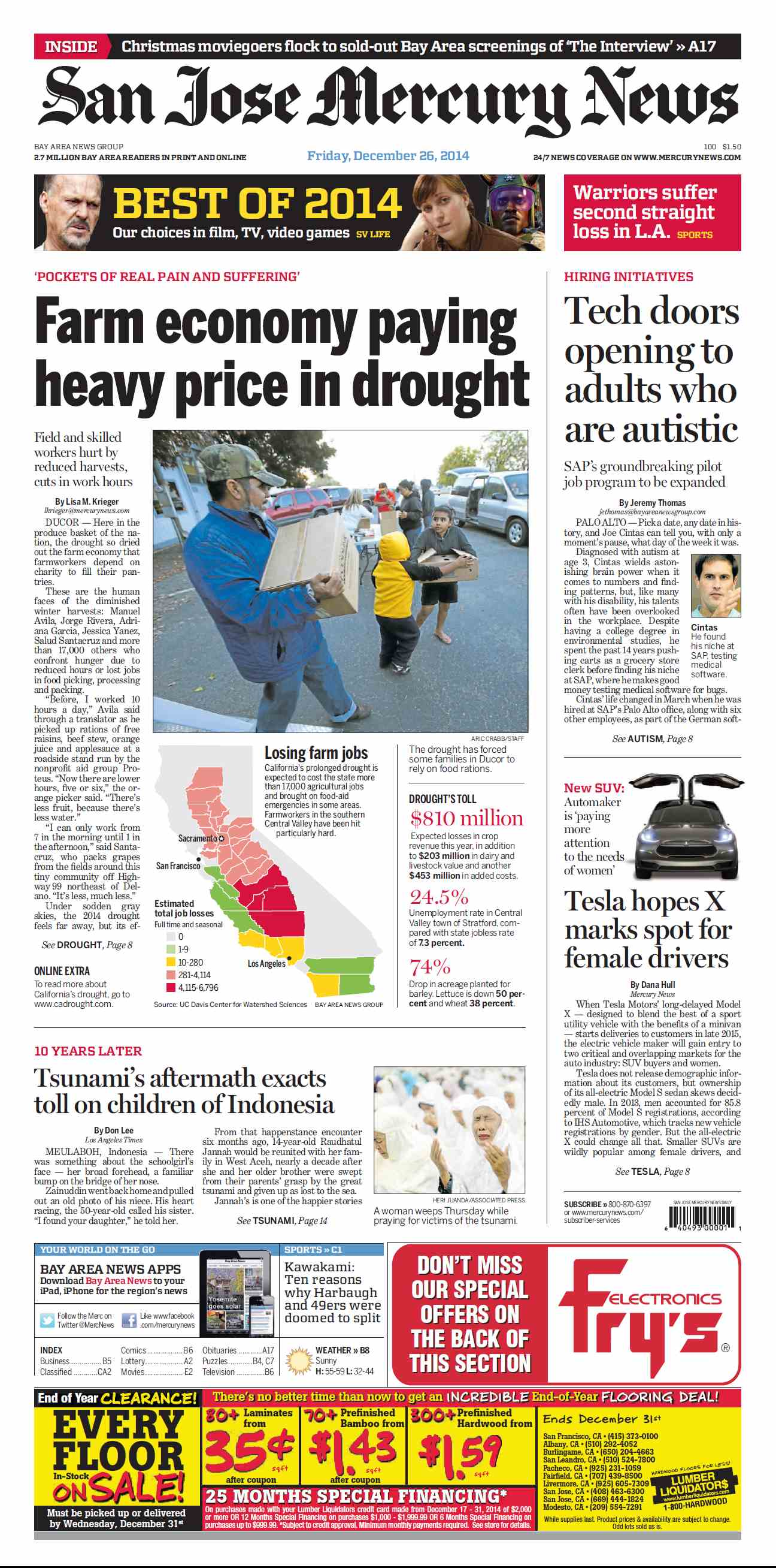 San Jose Mercury News - December 26, 2014 free download
