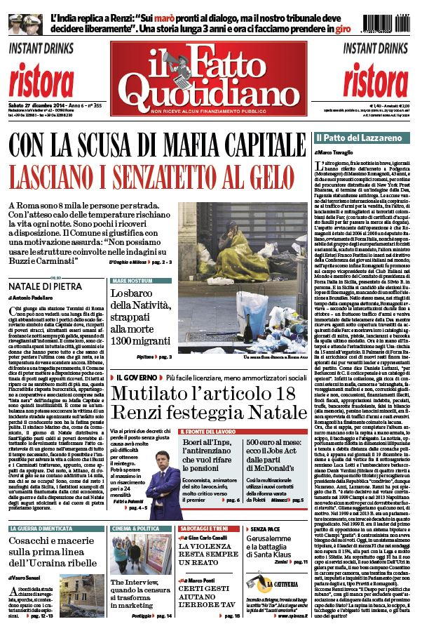 Il Fatto Quotidiano (27-12-14) free download