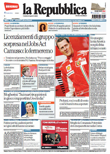 La Repubblica - 27.12.2014 free download