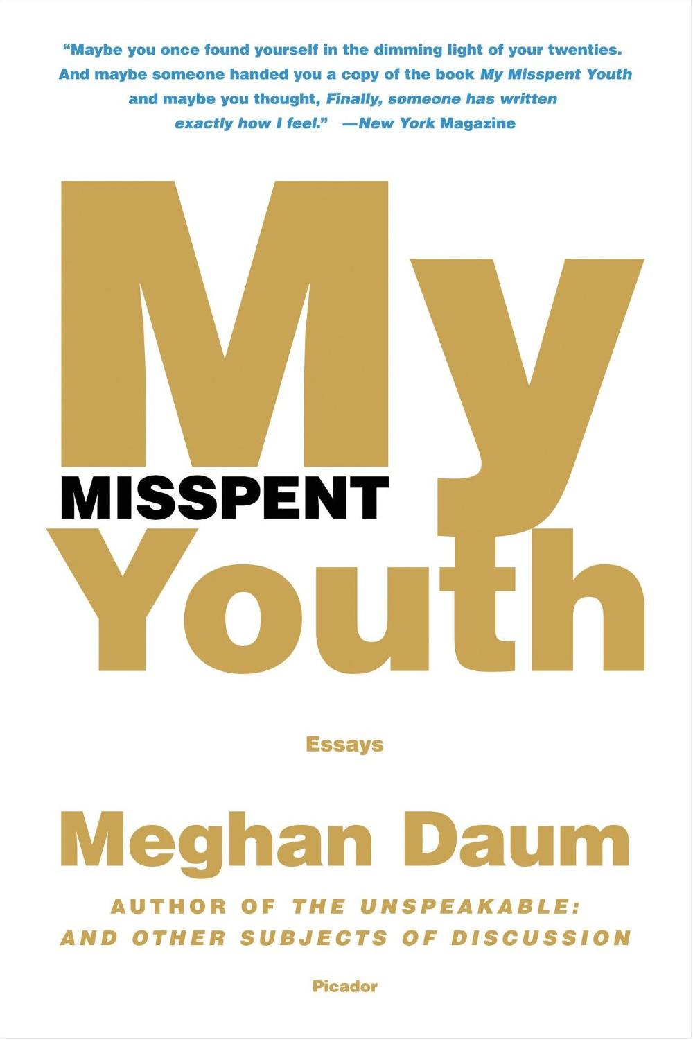 My Misspent Youth: Essays free download