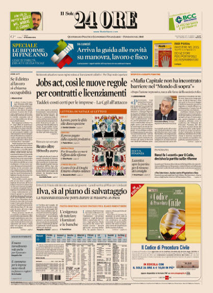 Il Sole 24 Ore - 27.12.2014 free download