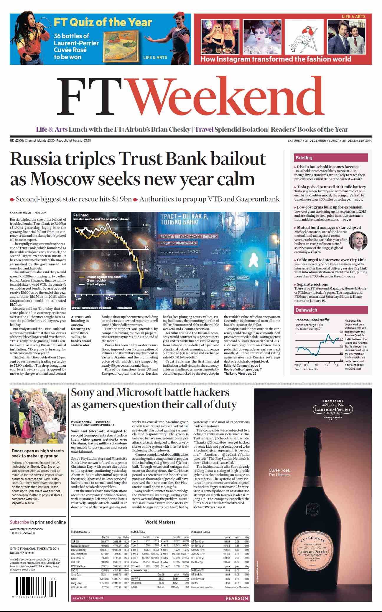 Financial Times  December 27 28, 2014 free download