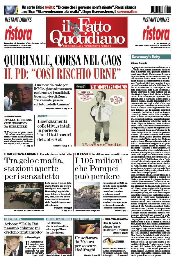 Il Fatto Quotidiano (28-12-14) free download