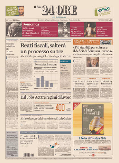 Il Sole 24 Ore - 28.12.2014 free download