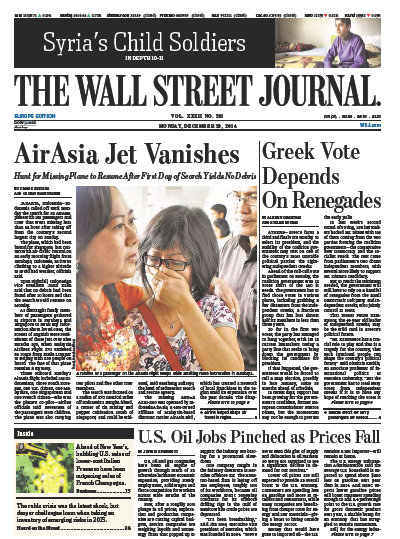 Wallstreet Journal Europe December 29 2014 free download