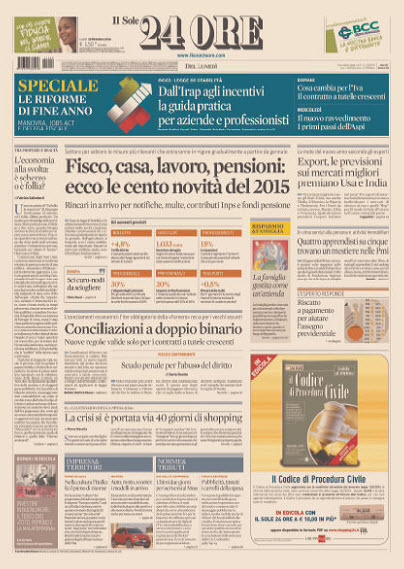 Il Sole 24 Ore - 29.12.2014 free download