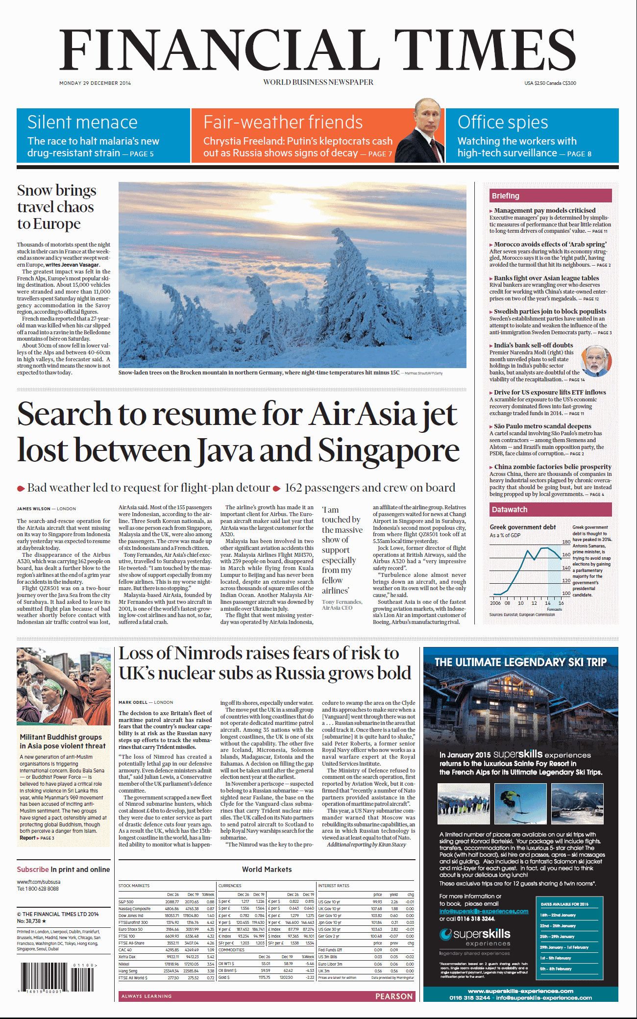 Financial Times  December 29, 2014 free download