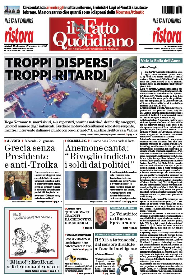 Il Fatto Quotidiano (30-12-14) free download