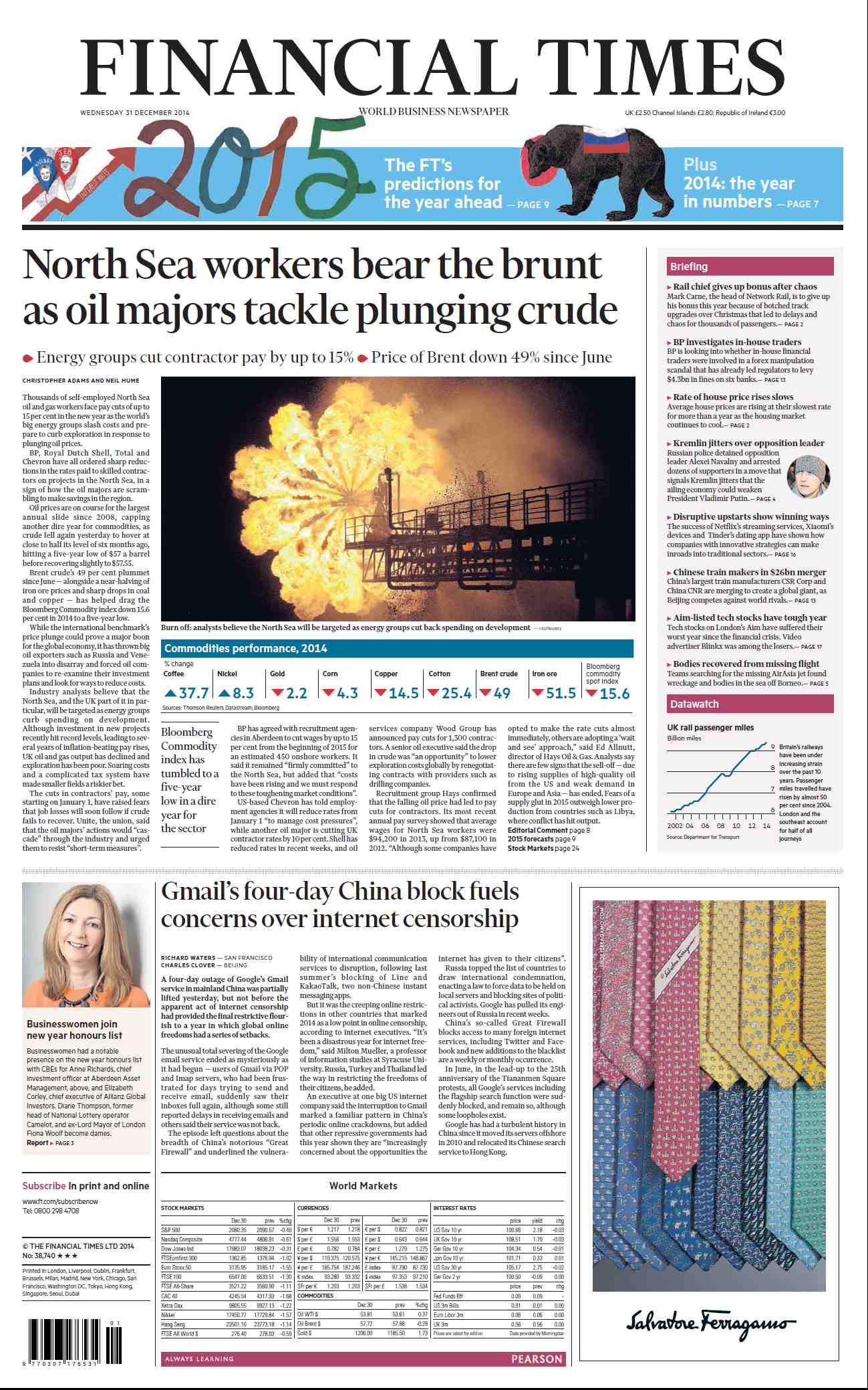 Financial Times UK  December 31, 2014 free download