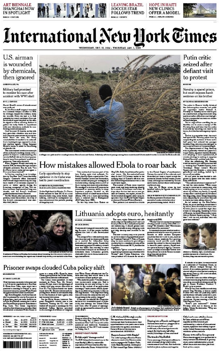 International New York Times - Wednesday-Thursday, 31 December 2014-1 January 2015 free download