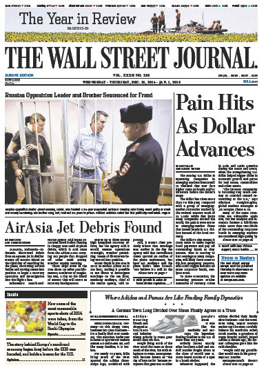 Wallstreet Journal Europe December 31 2014 free download