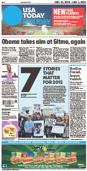 USA Today 31 December 2014 free download