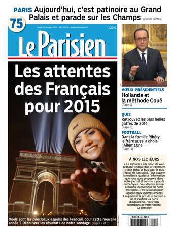 Le Parisien + Journal de Paris Du Jeudi 01 Janvier 2015 free download