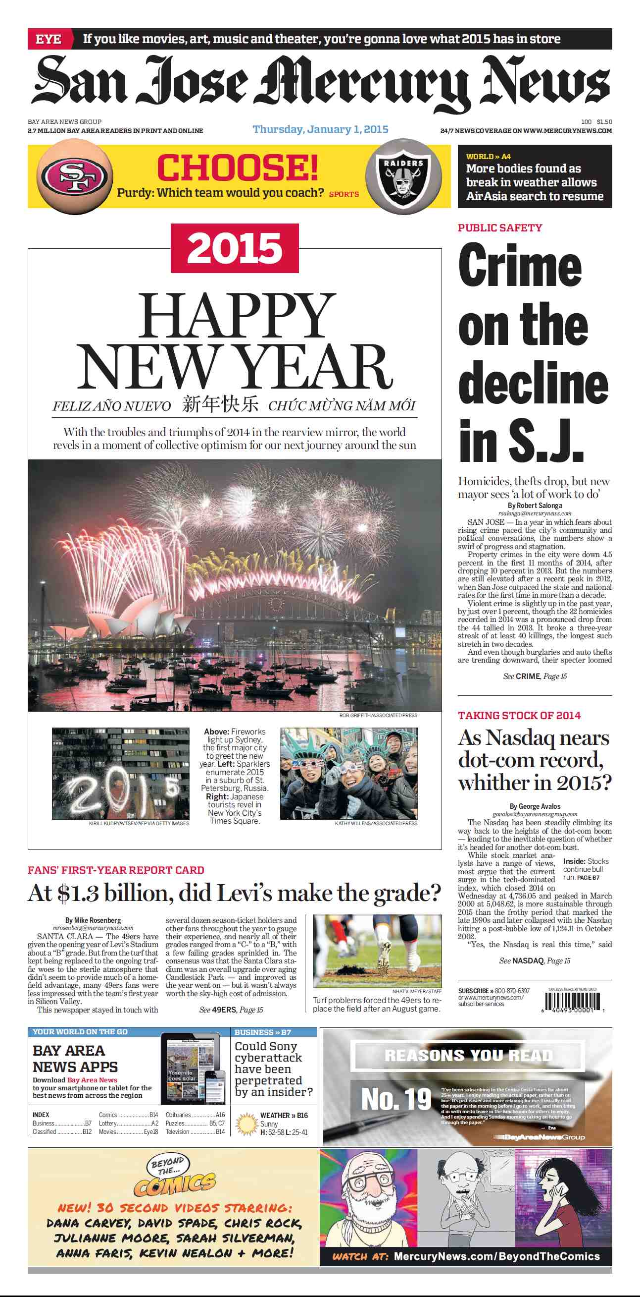 San Jose Mercury News - January 01, 2015 free download