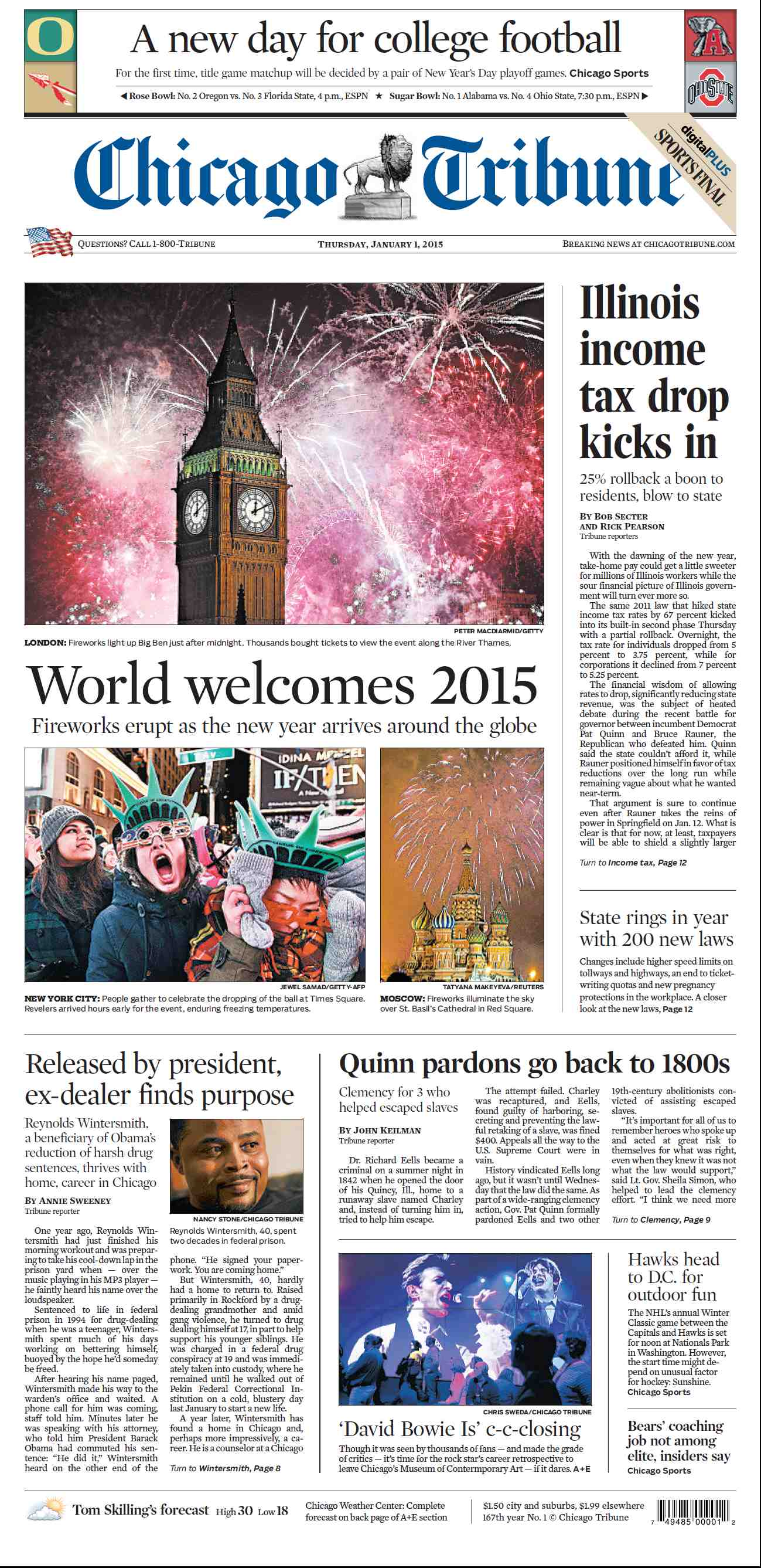 Chicago Tribune - January 01, 2015 free download