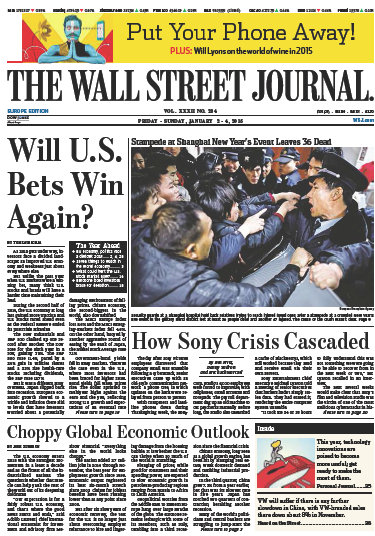 Wallstreet Journal Europe 2 January 2015 free download