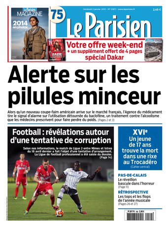 Le Parisien + Journal de Paris Du Vendredi 02 Janvier 2015 free download