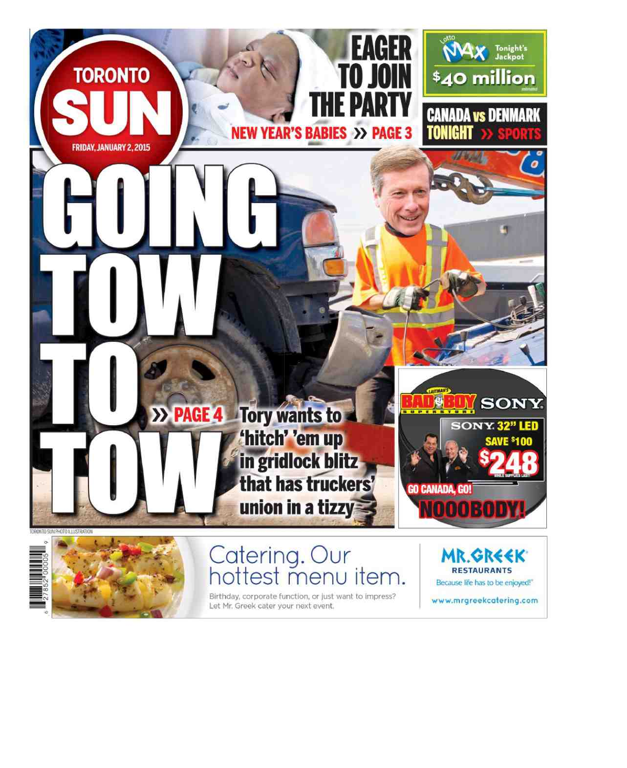 Toronto Sun January 02 2015 free download