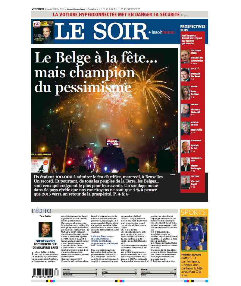 Le Soir du 02 Janvier 2015 free download
