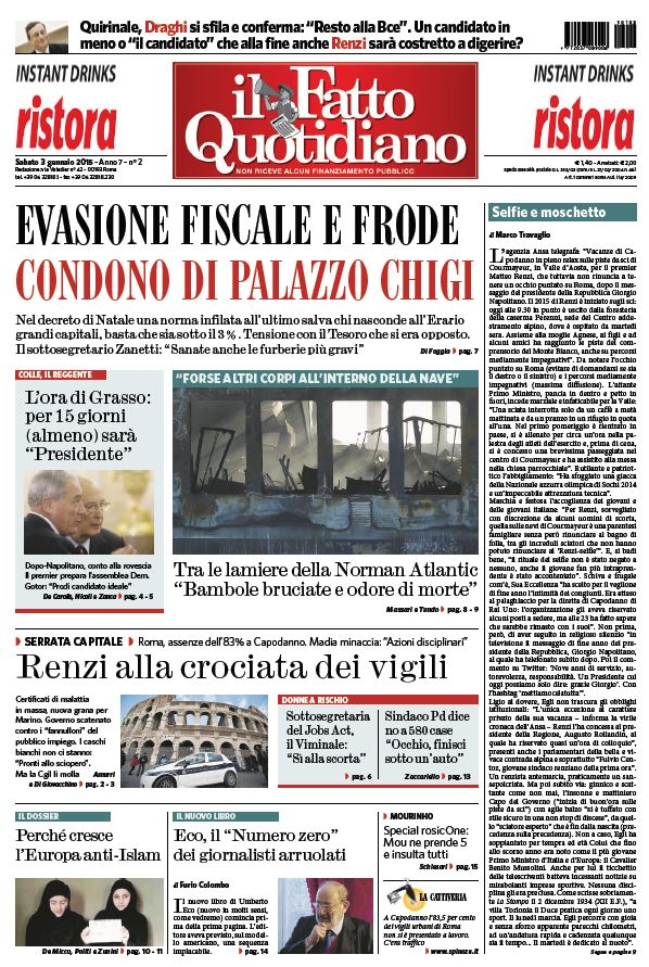 Il Fatto Quotidiano (03-01-15) free download