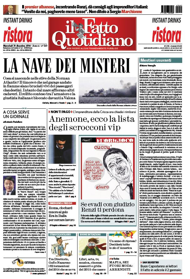 Il Fatto Quotidiano (31-12-14) free download