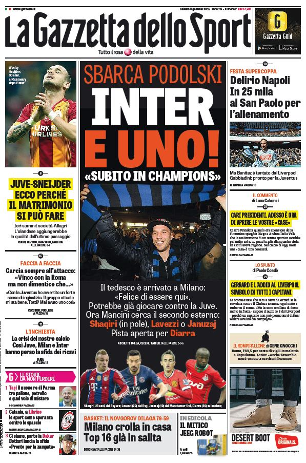 La Gazzetta dello Sport (03-01-15) free download